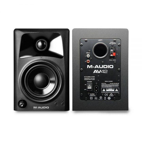 M-Audio Studiophile AV 42 Front & Back