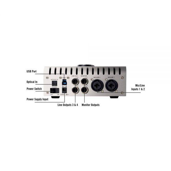 Universal Audio Apollo Twin DUO USB Back Info