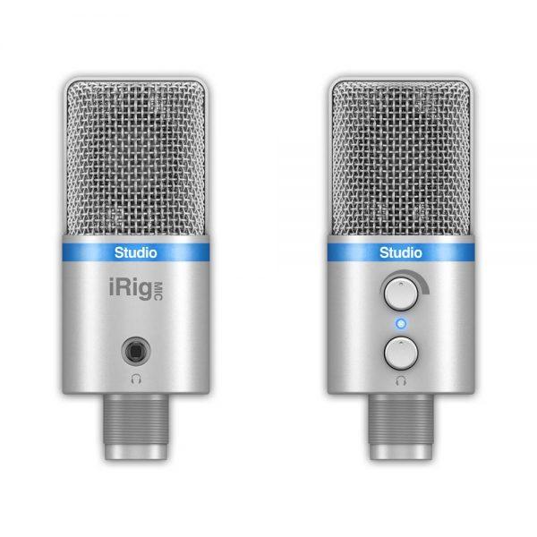iK Multimedia iRig Mic Studio Front & Back Silver