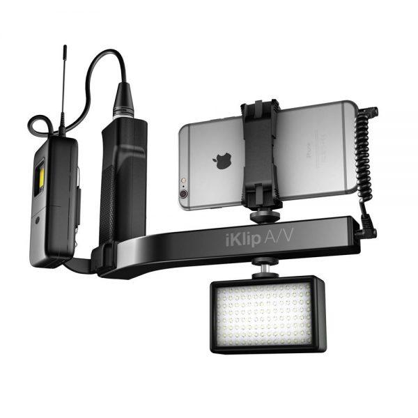 iK Multimedia iKlip A/V iPhone & Light