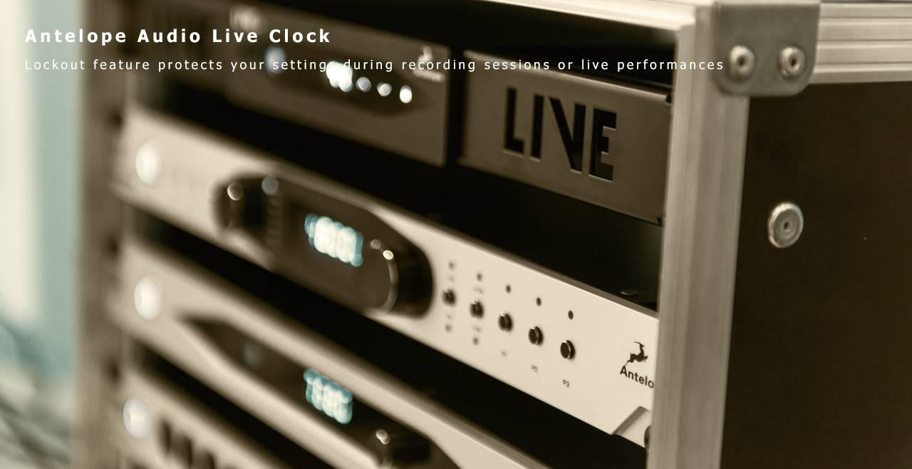 Antelope Audio Live Clock Content