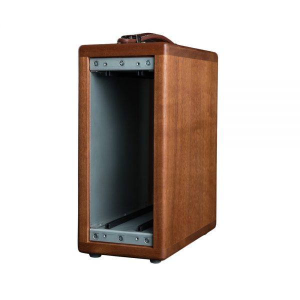 Rupert Neve Design Shelford Series Vertical Wooden Rack Angle