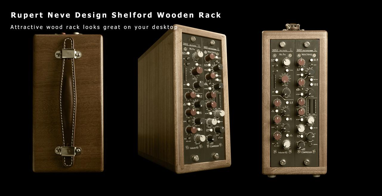 Rupert Neve Design Shelford Series Vertical Wooden Rack Content