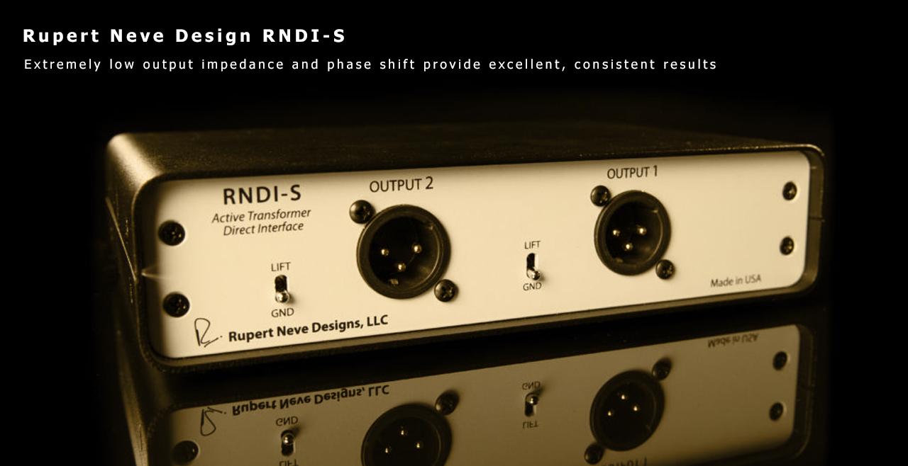 Rupert Neve Design RNDI-S Back More