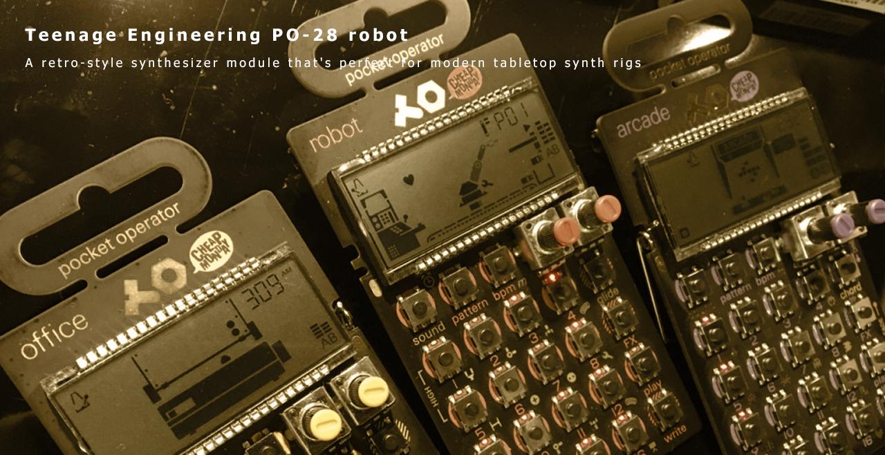 teenage engineering PO-28 robot More