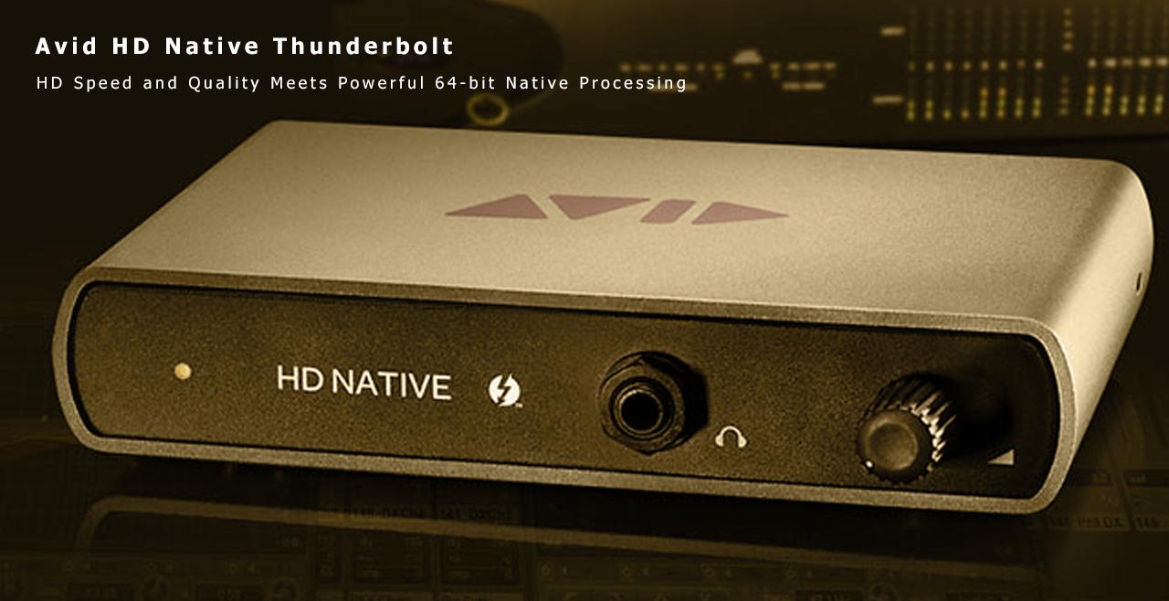 Avid HD Native Thunderbolt Content