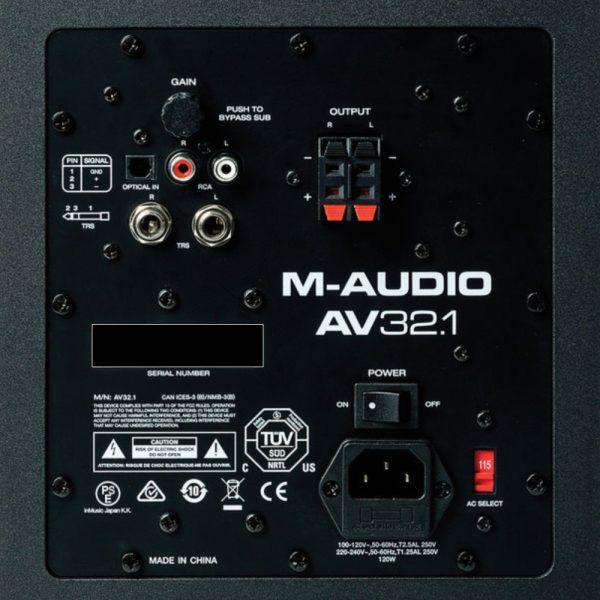 M-Audio AV 32.1 Zoom Back