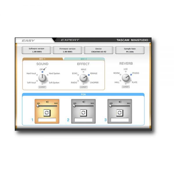 TASCAM MiNiSTUDIO US-32 Easy Control Panel