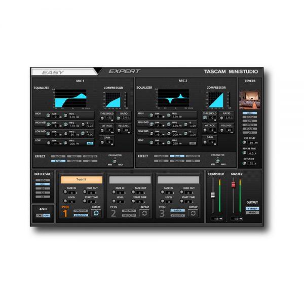TASCAM MiNiSTUDIO US-32 Expert Control Panel