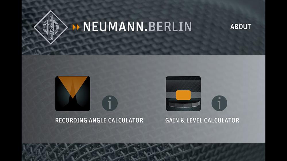 Neumann Recording Tools Home