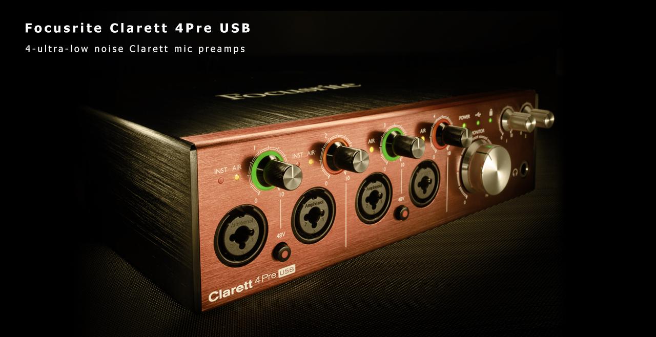 Focusrite Clarett 4Pre USB Content