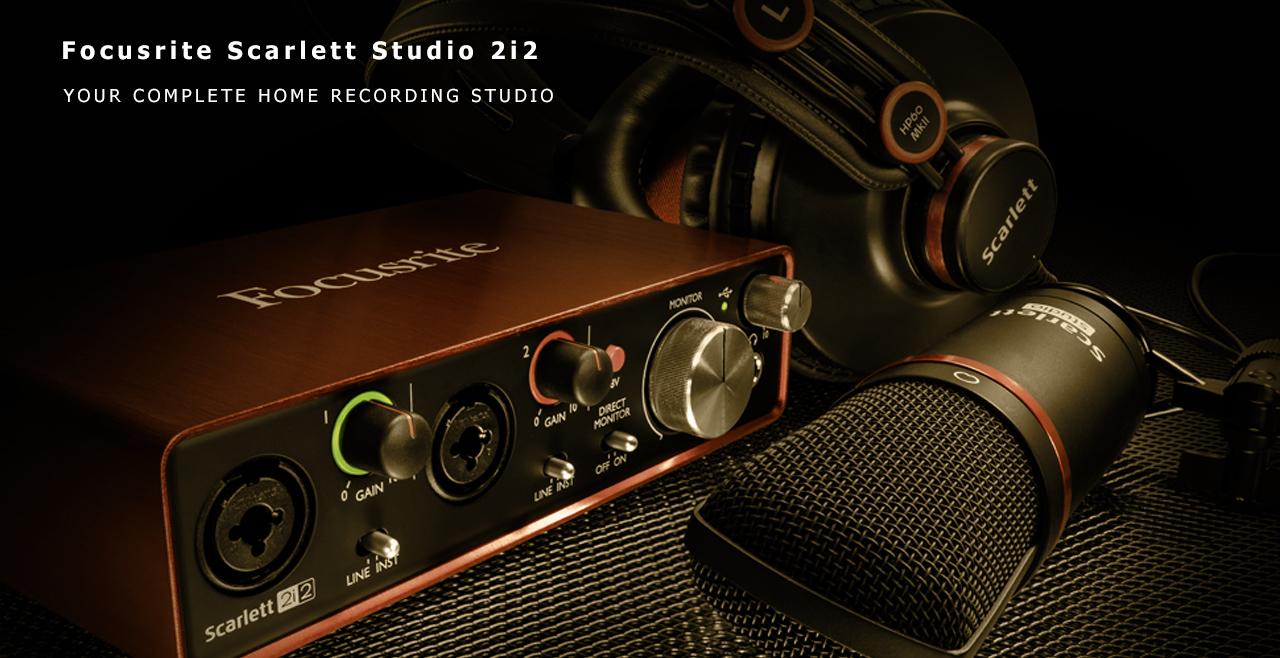 Focusrite Scarlett 2i2 Studio-Content