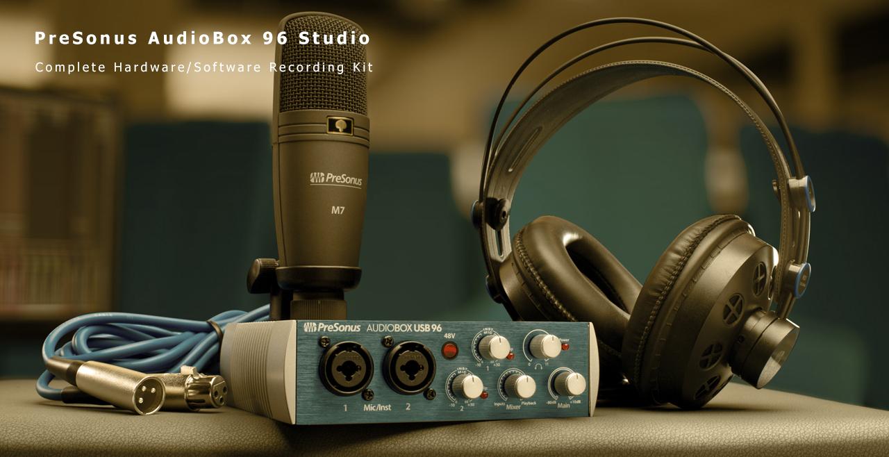 PreSonus AudioBox 96 Studio Content