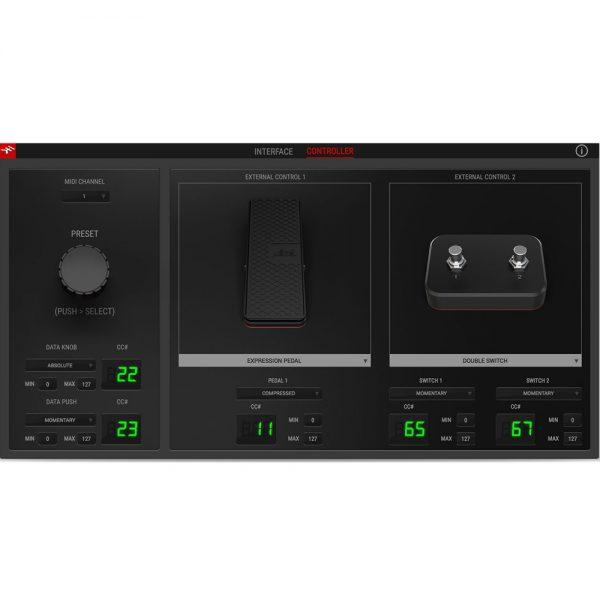 IK Multimedia AXE IO Software Controller Tab