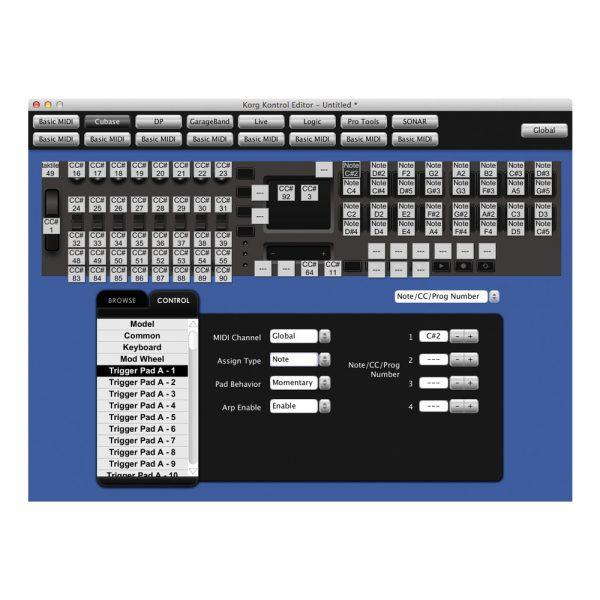 KORG Taktile 25 Kontrol Editor