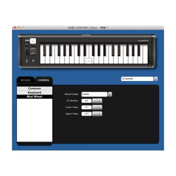 KORG microKEY2 61 Kontrol Editor