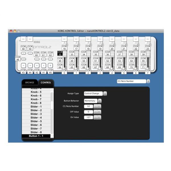 KORG nanoKONTROL2 Kontrol Editor