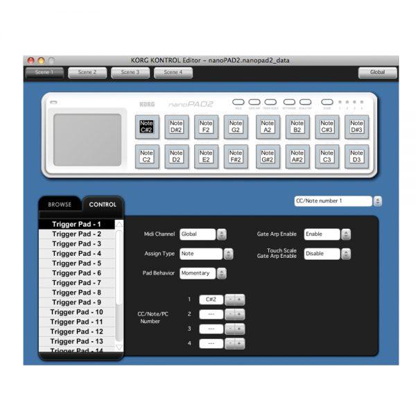 KORG nanoPAD2 Kontrol Editor