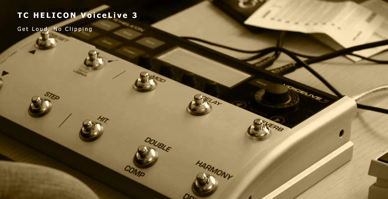TC HELICON VoiceLive 3 More Detail