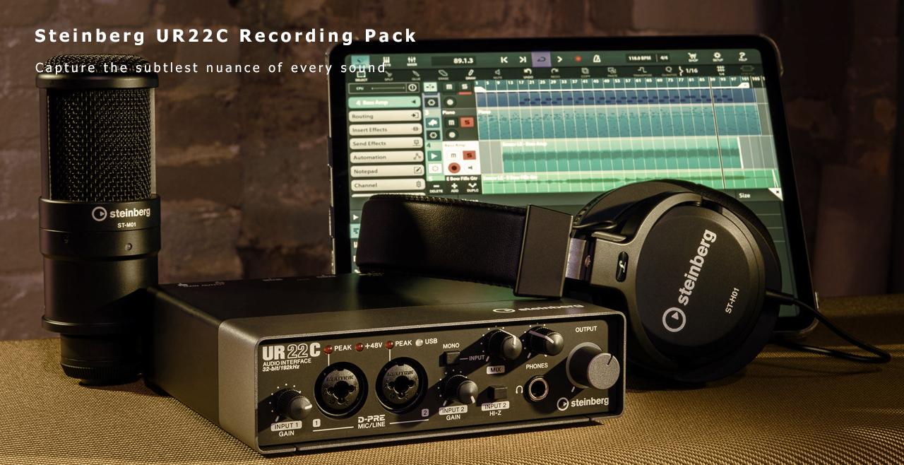 Steinberg UR22C Recording Pack Content