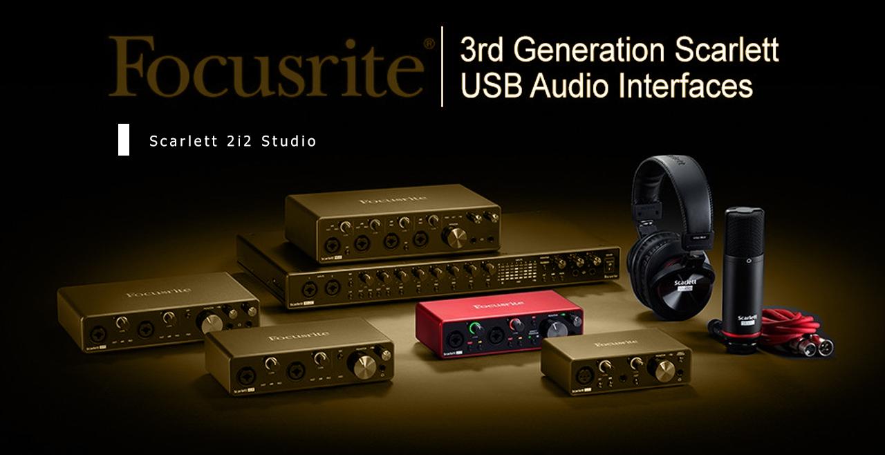Focusrite Scarlett 2i2 Studio G3 Content