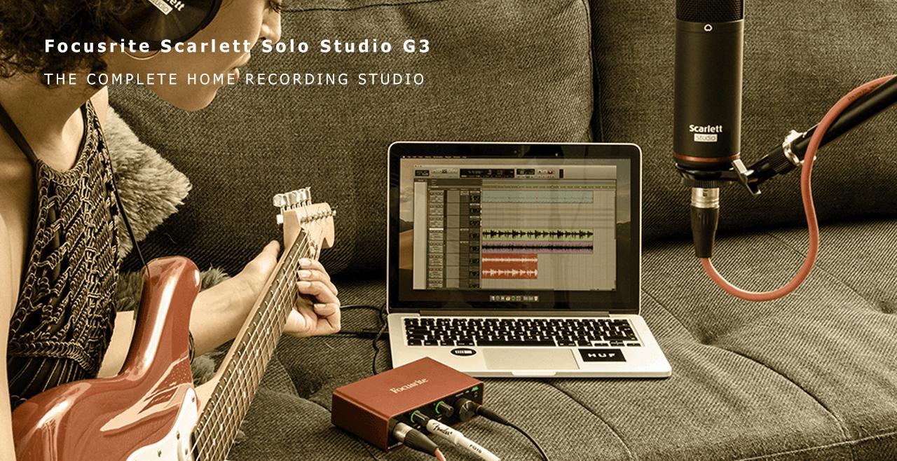 Focusrite Scarlett Solo Studio G3 More Detail