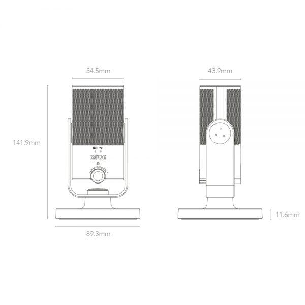 Rode NT-USB mini Dimensions
