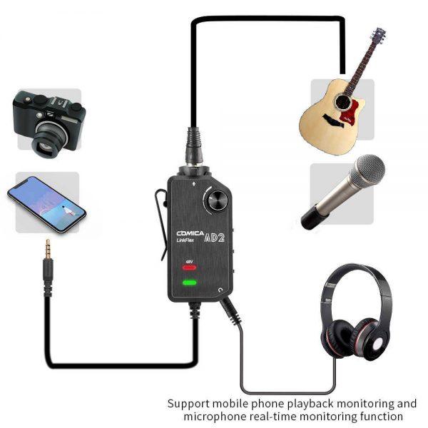 Comica Audio LinkFlex AD2 Connection